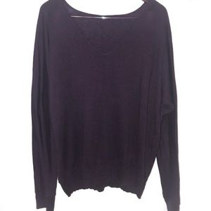 Gap V Neck Tunic Purple Sweater